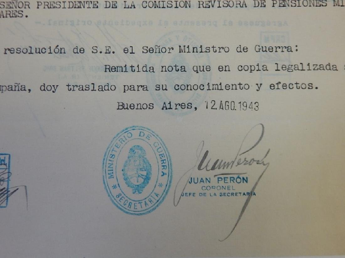 JUAN PERON SIGNED LETTERS - 3
