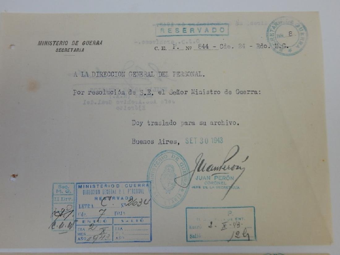 JUAN PERON SIGNED LETTERS - 4