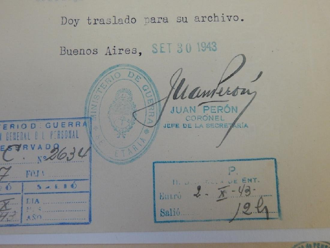 JUAN PERON SIGNED LETTERS - 5