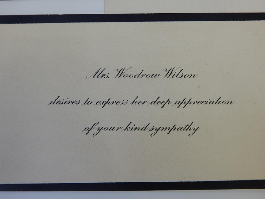 MRS WOODROW WILSON CORRESPONDANCE - 3
