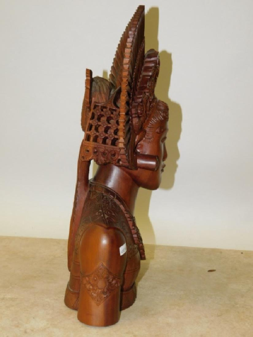CARVED WOOD GODESSS - 5