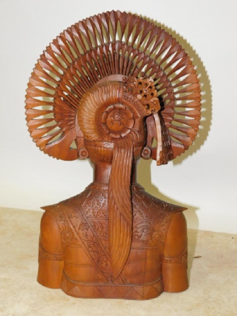 CARVED WOOD GODESSS - 6