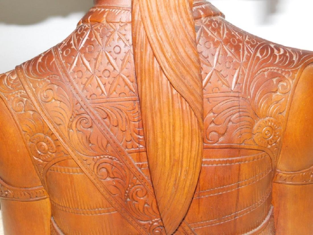 CARVED WOOD GODESSS - 7