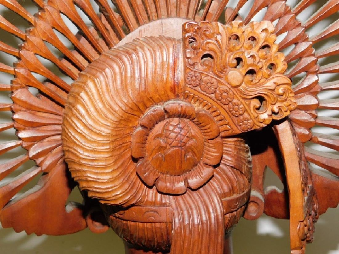 CARVED WOOD GODESSS - 8