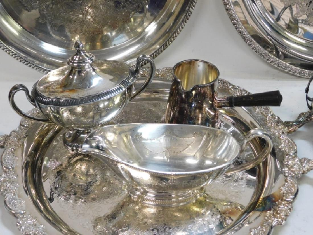 COLLECTION OF SILVER PLATE - 4
