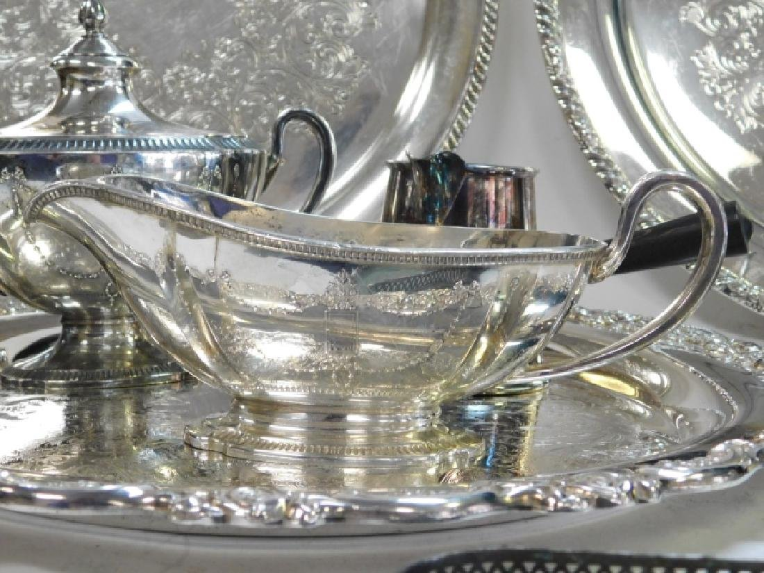 COLLECTION OF SILVER PLATE - 5
