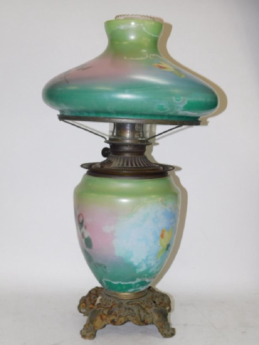 HAND PAINTED OIL LAMP - 2