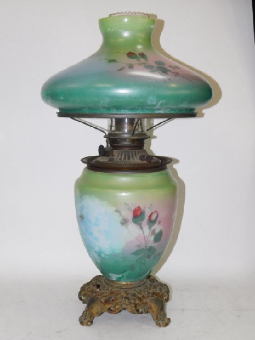 HAND PAINTED OIL LAMP - 3