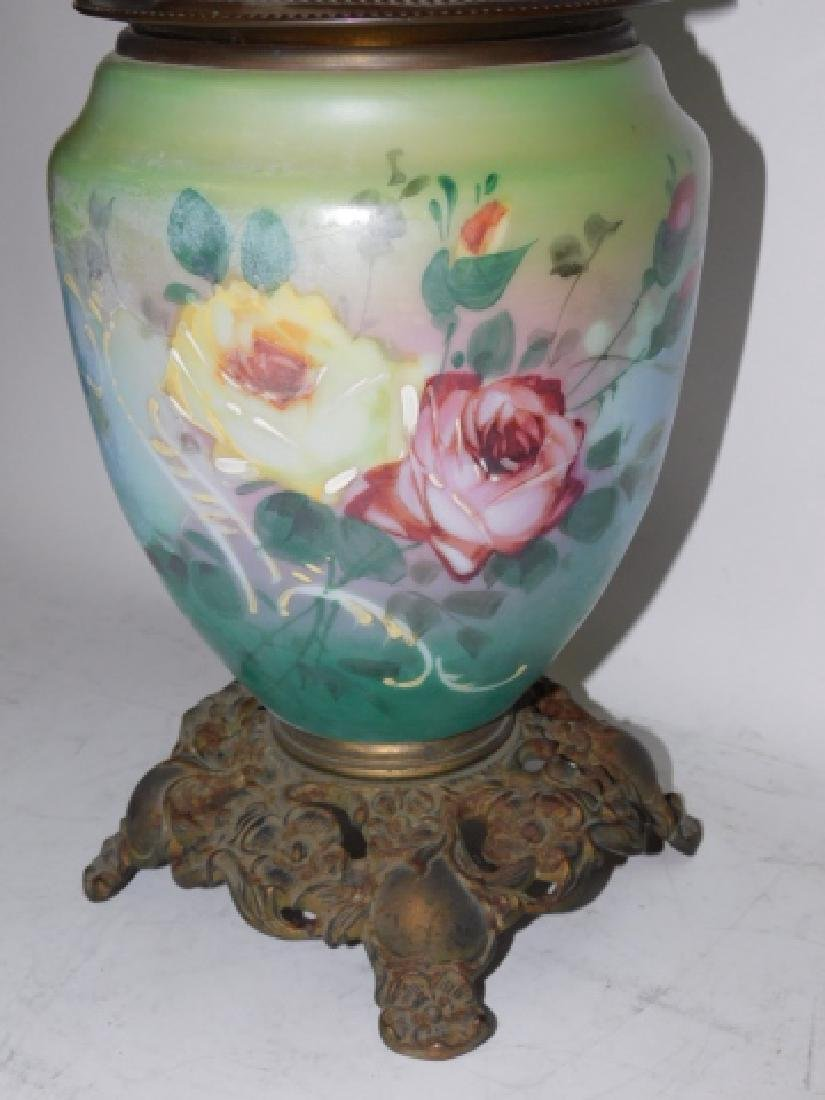 HAND PAINTED OIL LAMP - 4