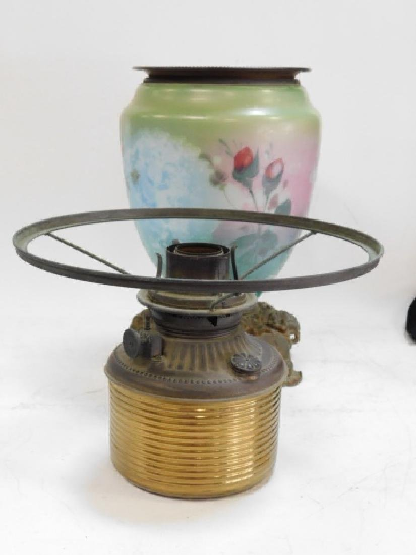 HAND PAINTED OIL LAMP - 6