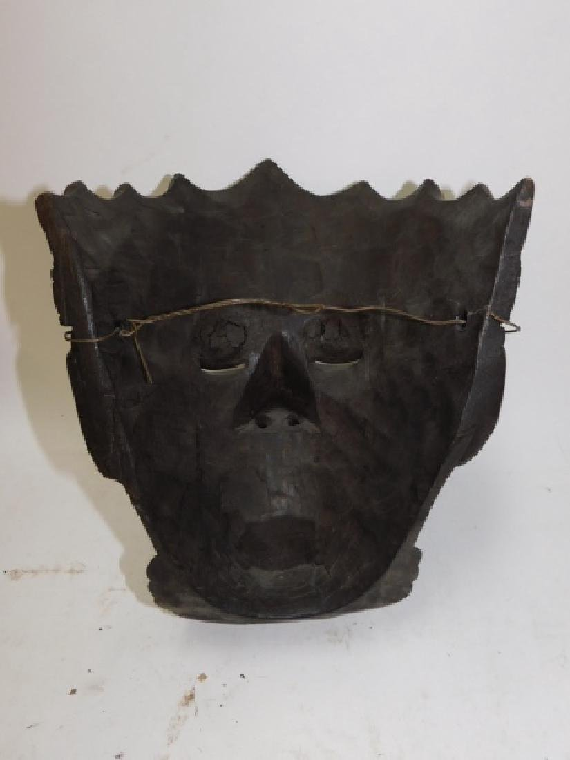 WOOD CARVED MASK - 4