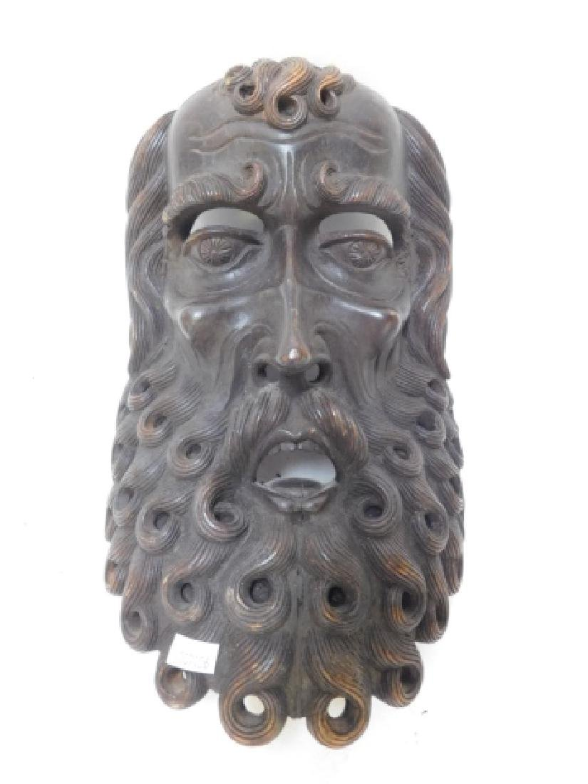 WOOD CARVED MASK - 2