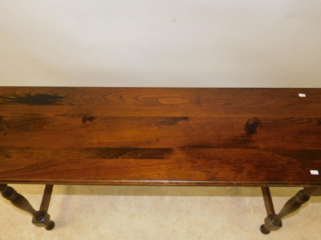 DARK WOOD CONSOLE TABLE - 2