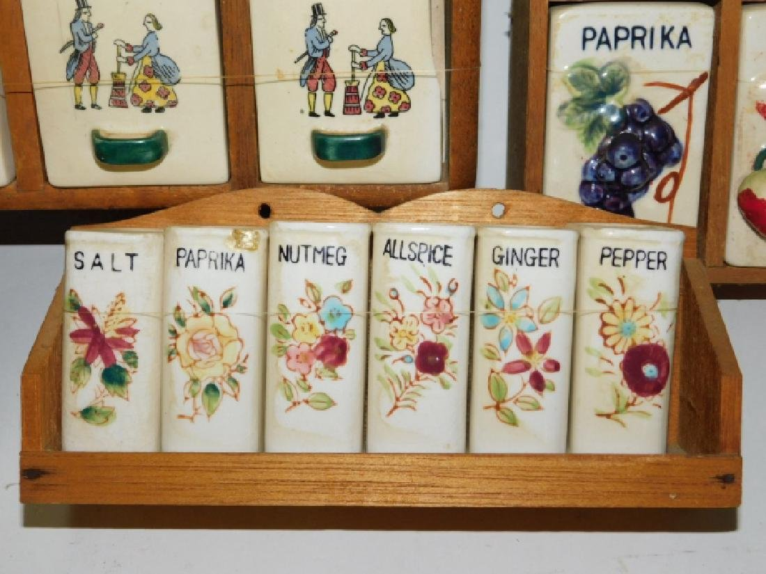 COLLECTION OF SPICE RACKS - 3