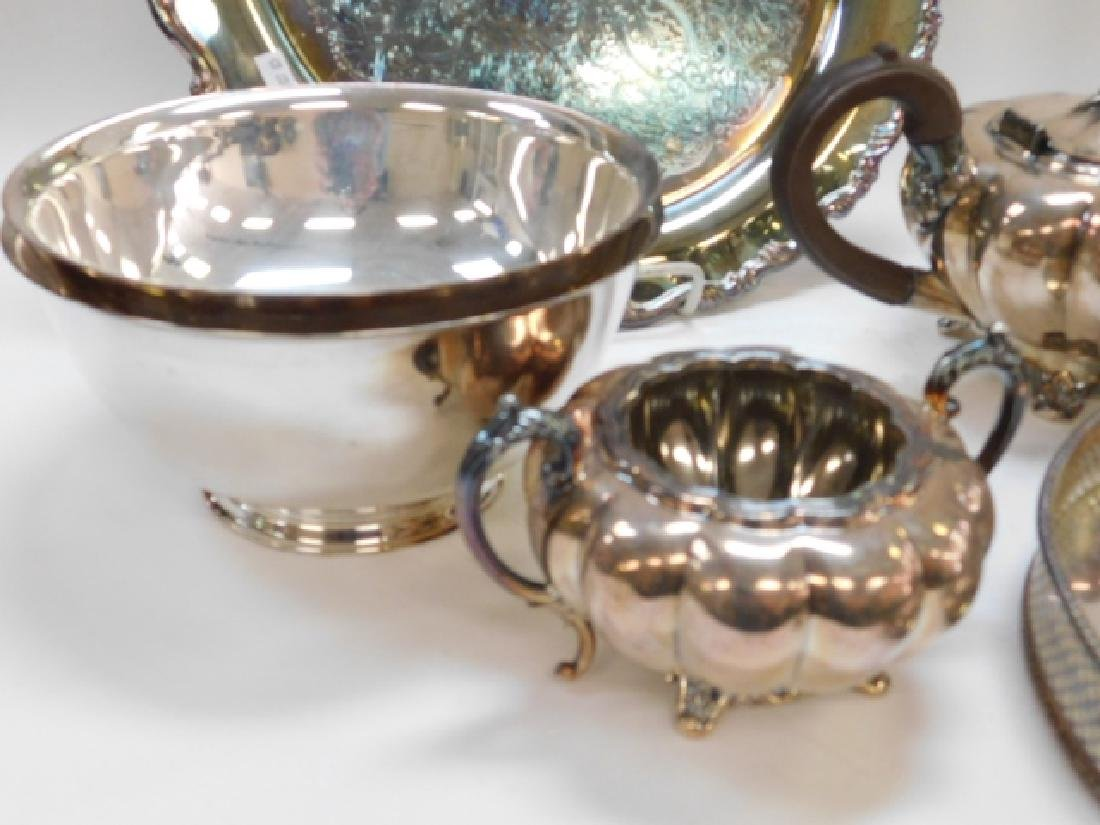 COLLECTION OF SILVER PLATE - 6