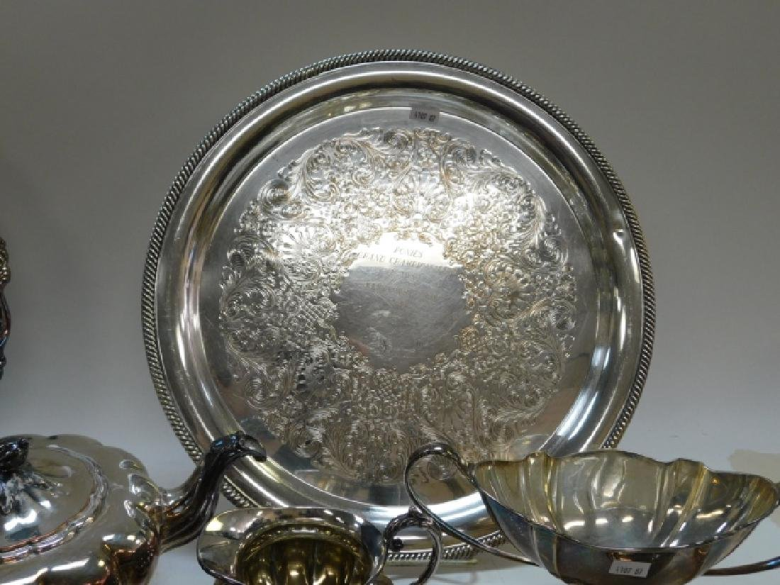 COLLECTION OF SILVER PLATE - 9