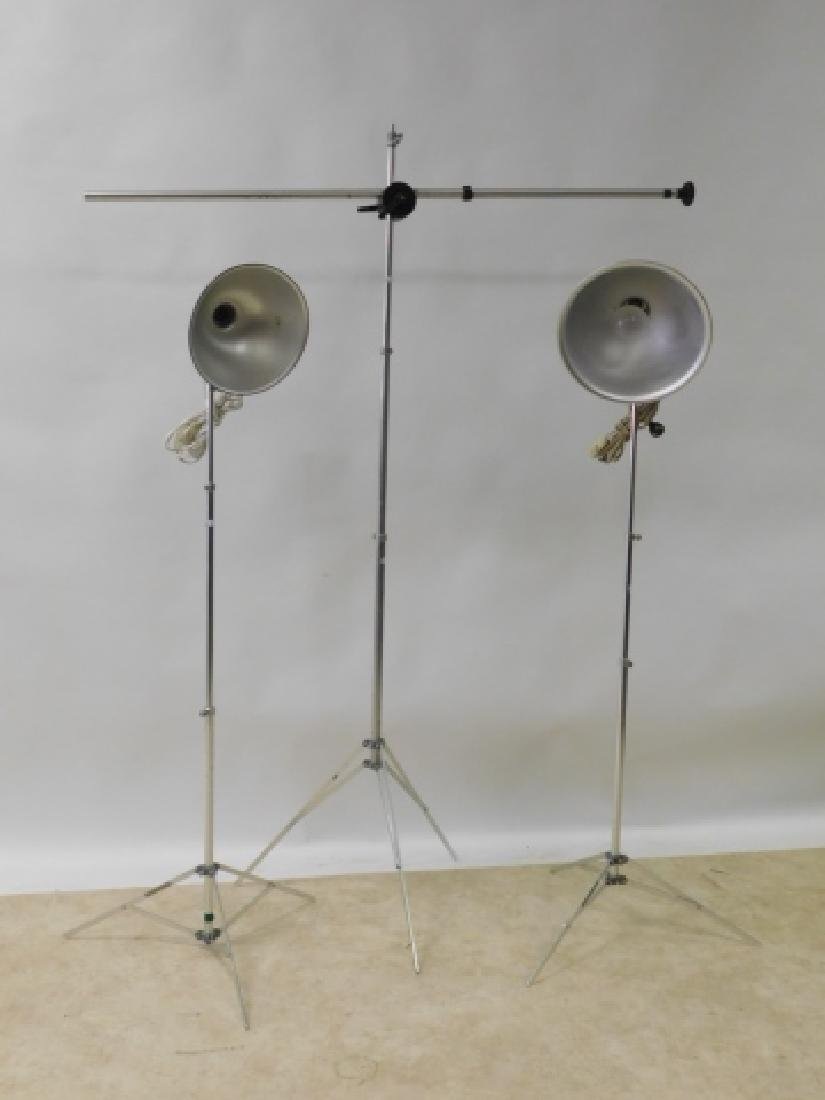 THREE LIGHT STANDS