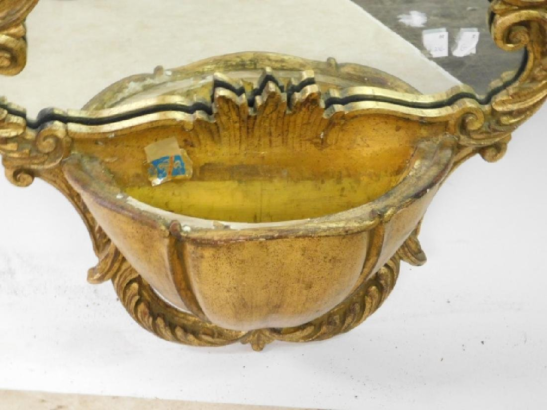 FRENCH CARVED LAVA BOWL MIRROR - 2
