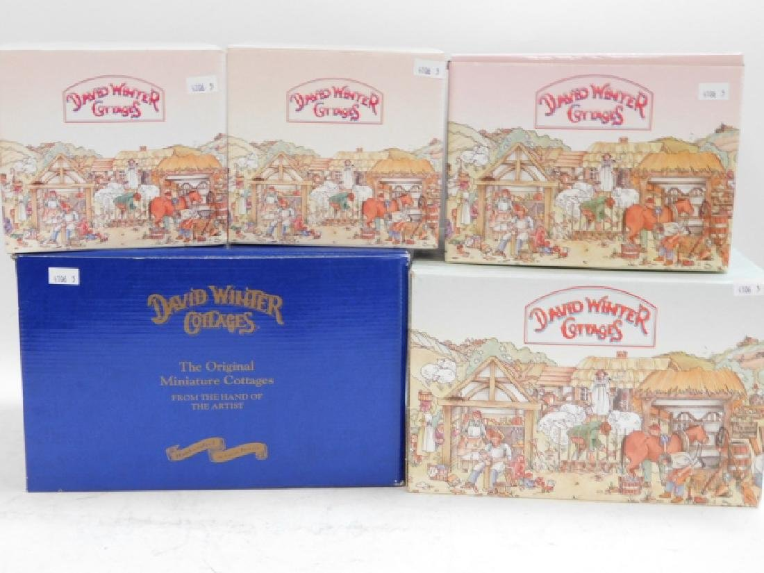 5 PC DAVID WINTER COTTAGE COLLECTION