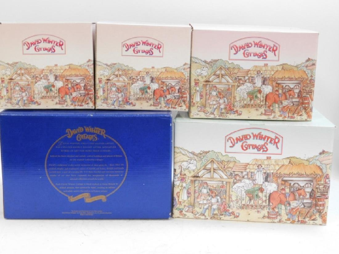 5 PC DAVID WINTER COTTAGE COLLECTION - 2