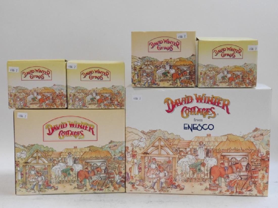 6 PC DAVID WINTER COTTAGE COLLECTION