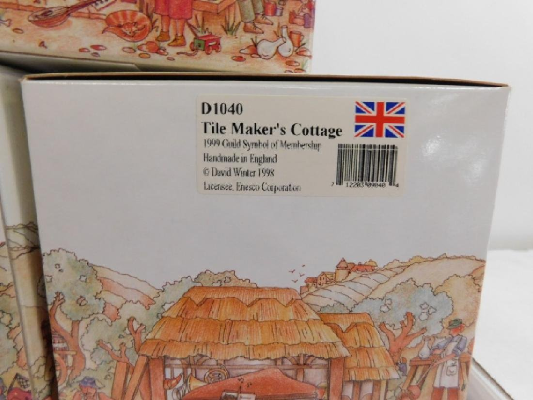 5 PC DAVID WINTER COTTAGE COLLECTION - 5