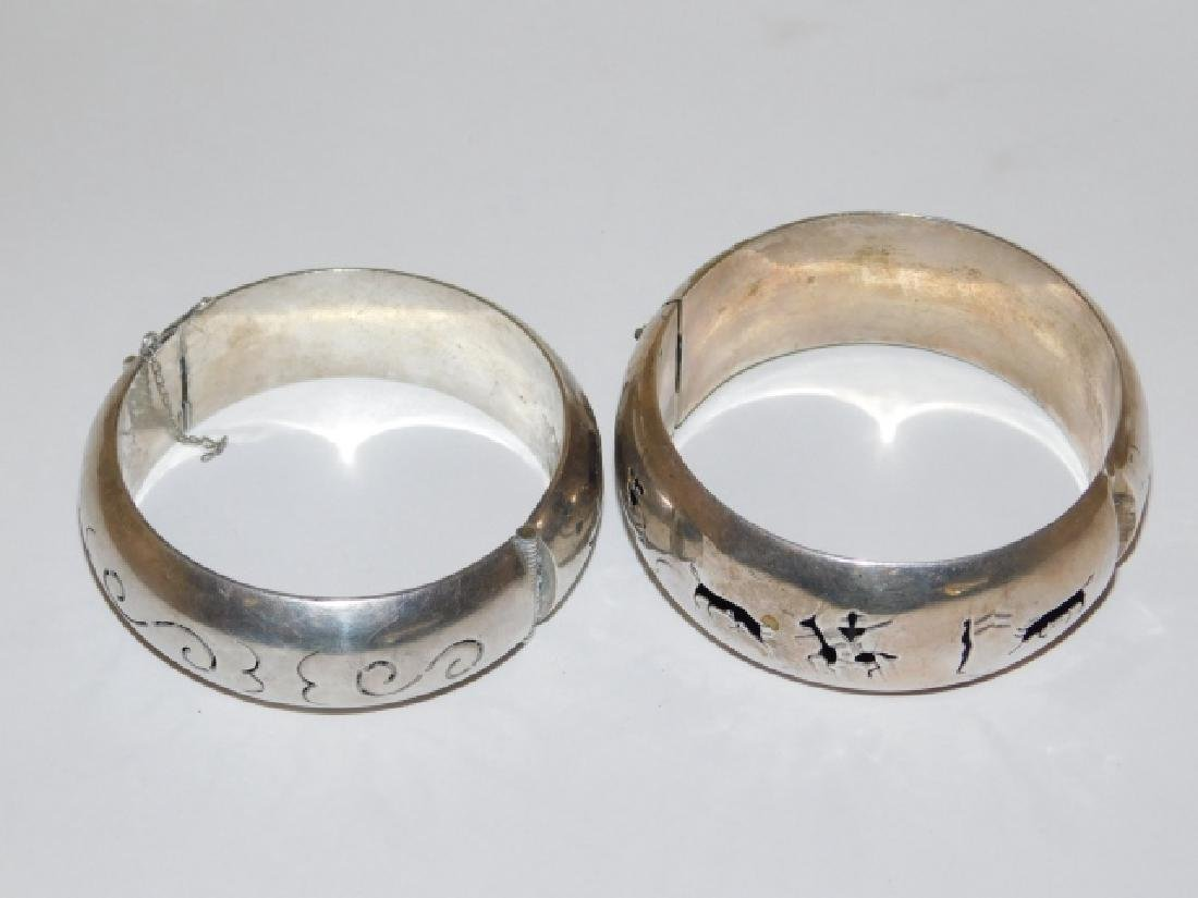 TWO MEXICAN SILVER BRACELETS - 2