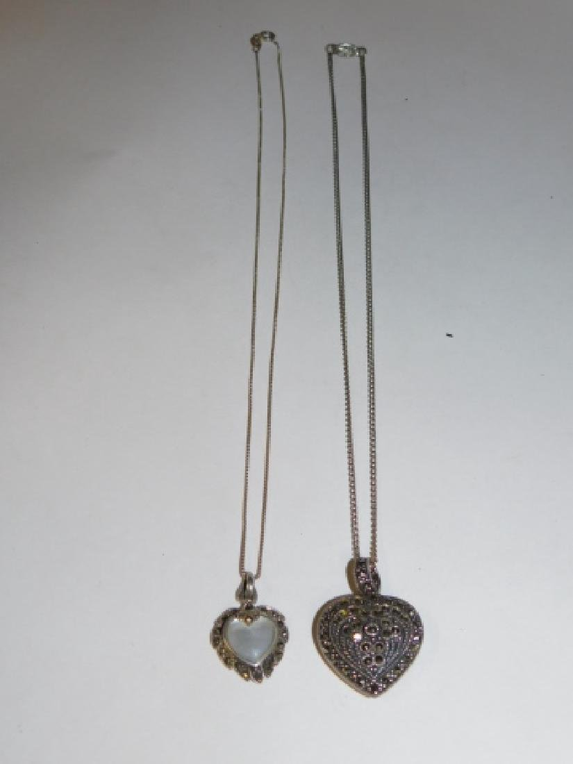 TWO STERLING SILVER NECKLACES - 3