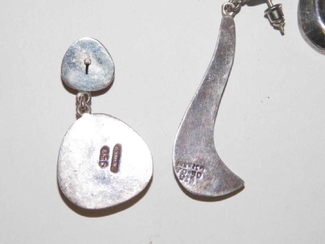 TWO PAIRS OF MEXICAN SILVER EARRINGS - 2