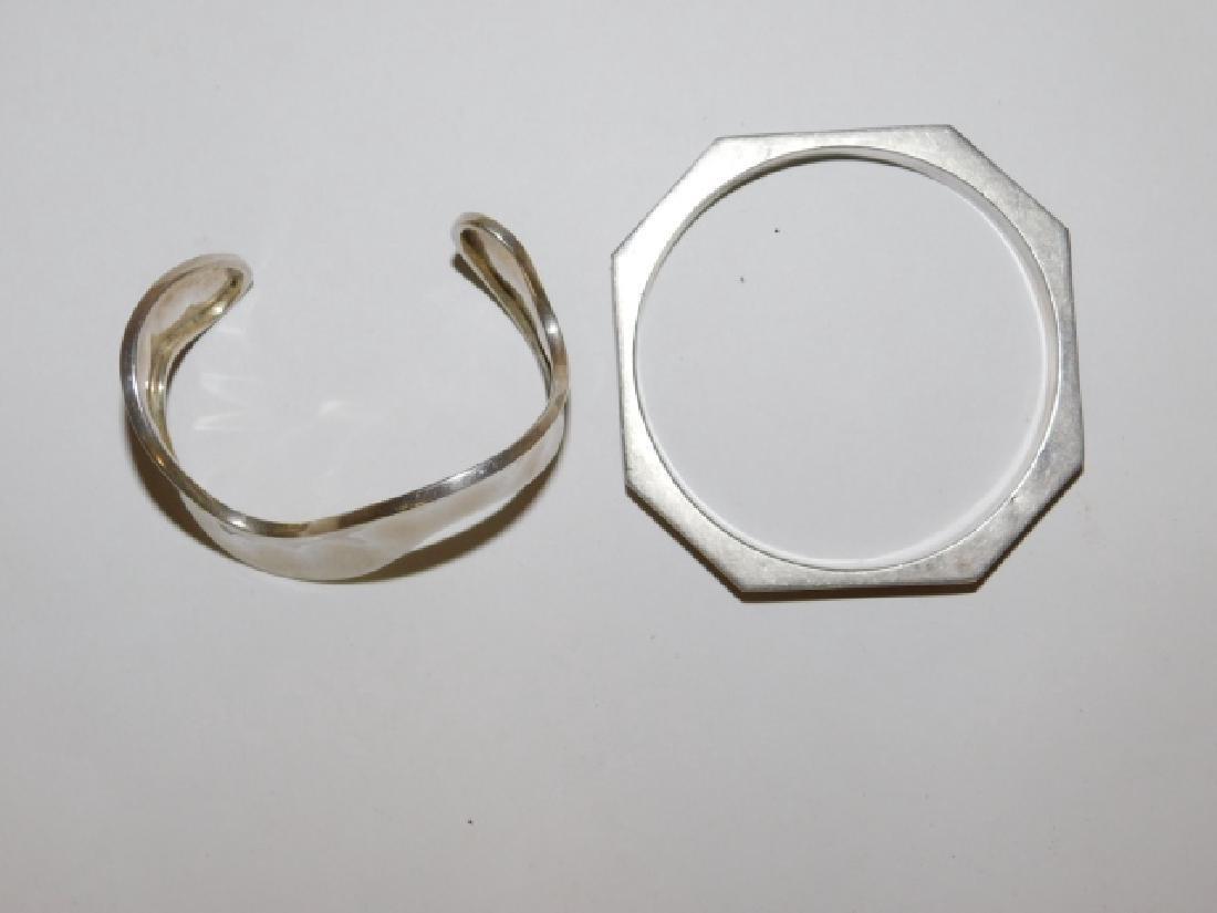 TWO STERLING SILVER BRACELETS - 2