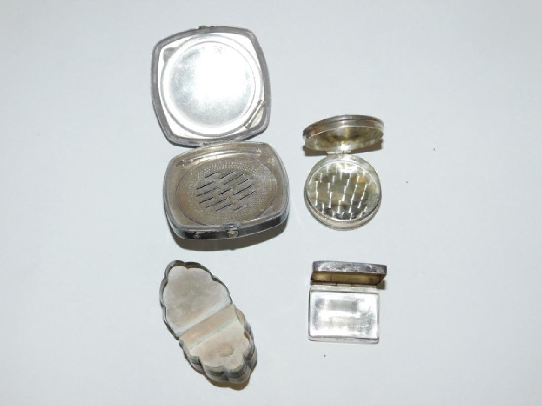 FOUR STERLING SILVER COMPACTS AND BOXES - 2