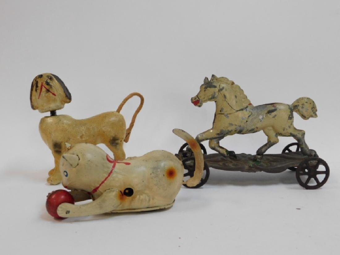 THREE VINTAGE CHILDRENS TOYS