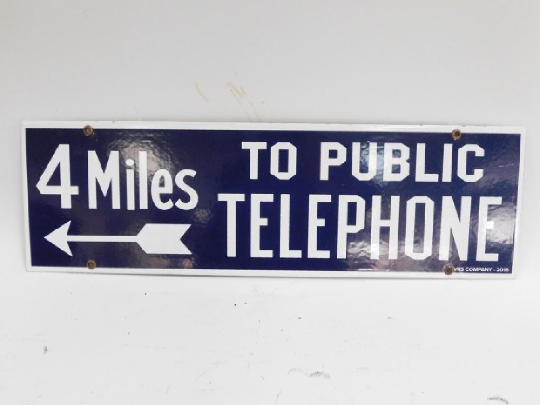 PORCELAIN TELEPHONE SIGN