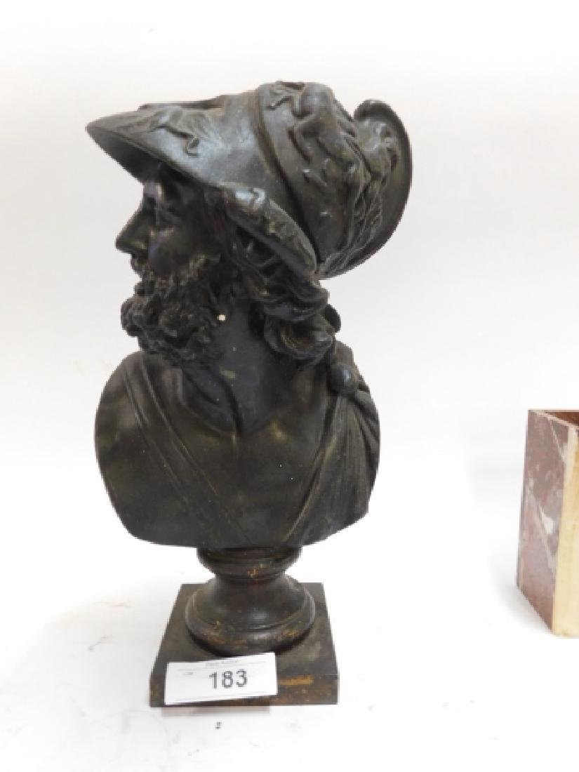 SPELTER BUST OF SOLDIER