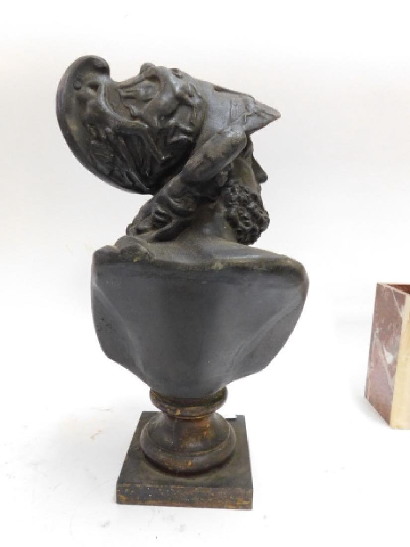 SPELTER BUST OF SOLDIER - 2