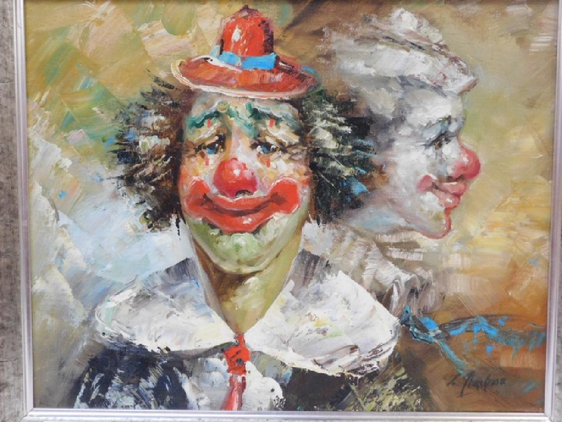 OIL ON CANVAS CLOWN - 2