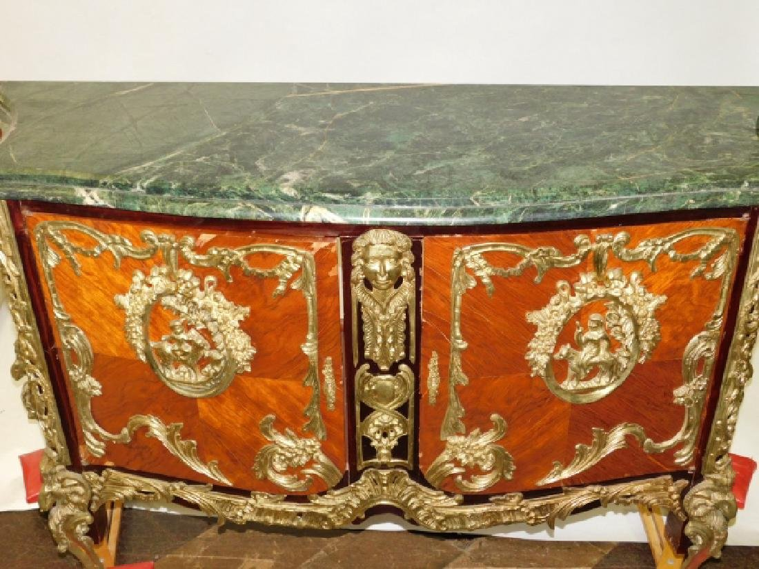 INLAID BRONZE MOUNT MARBLE TOP SERVER - 2