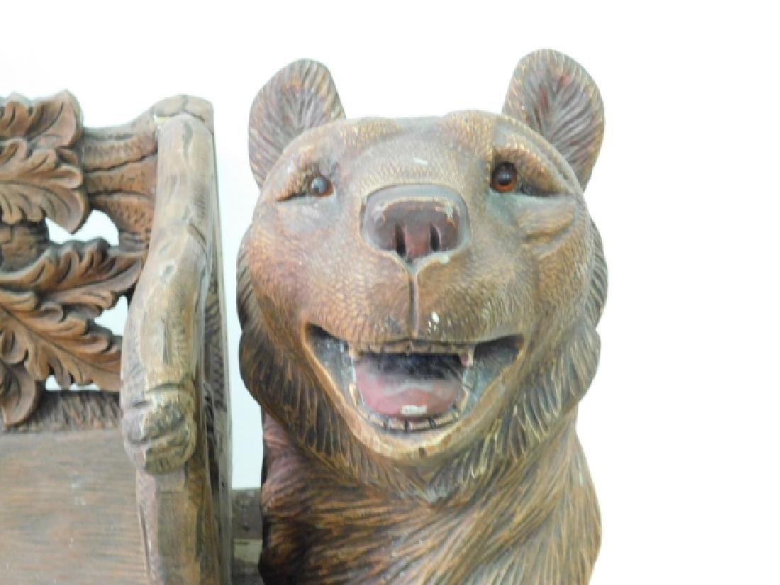 CARVED BEAR BENCH - 2