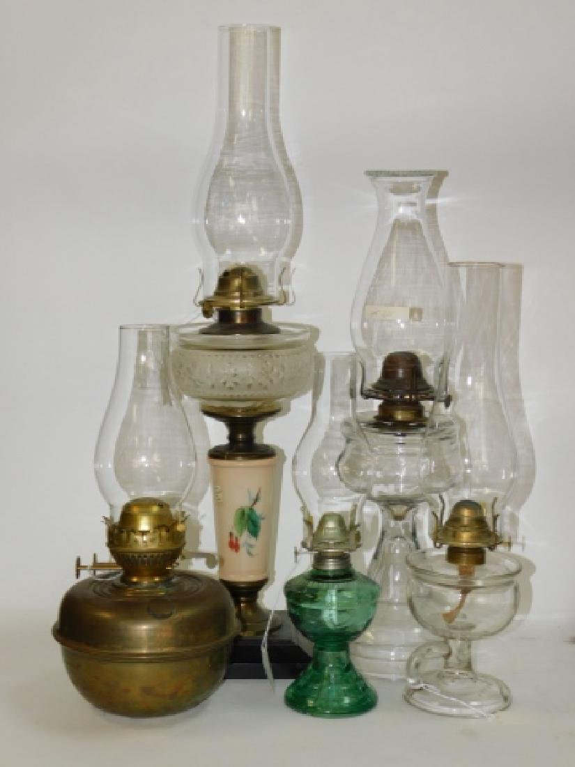 LOT OF 5 OIL LAMPS
