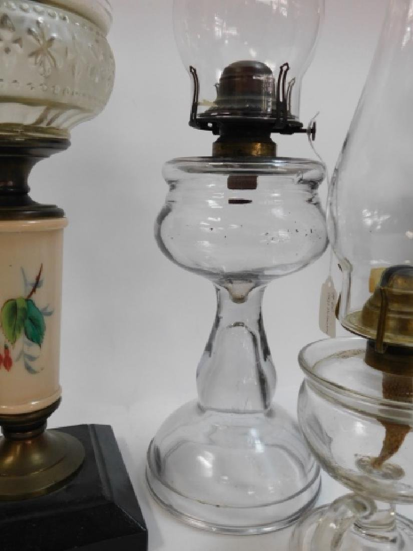 LOT OF 5 OIL LAMPS - 6