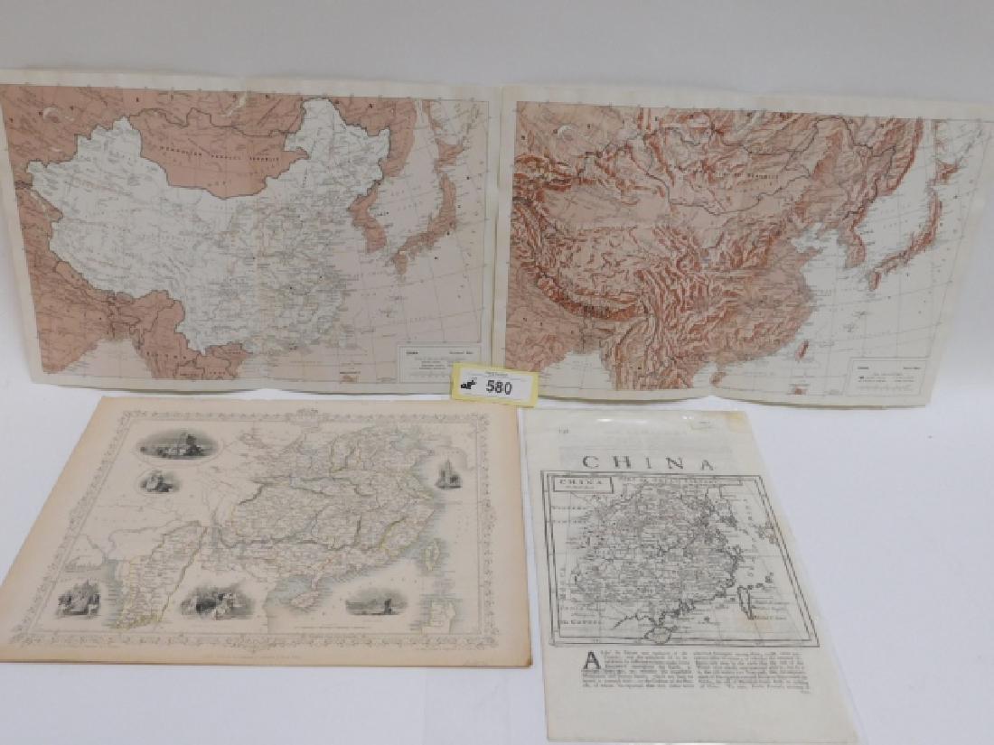 FOUR ANTIQUE CHINA MAPS