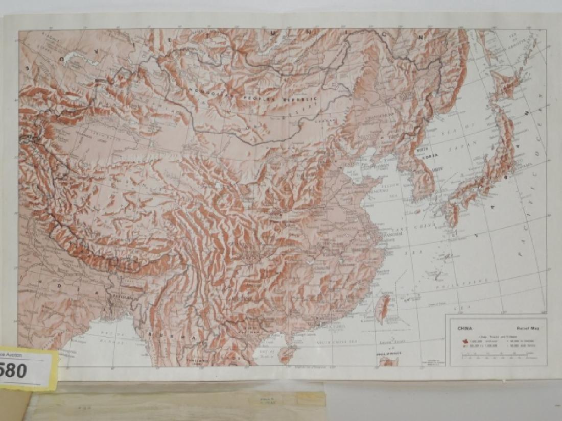 FOUR ANTIQUE CHINA MAPS - 7