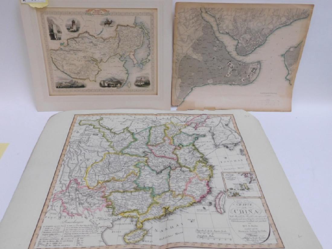 THREE ANTIQUE MAPS