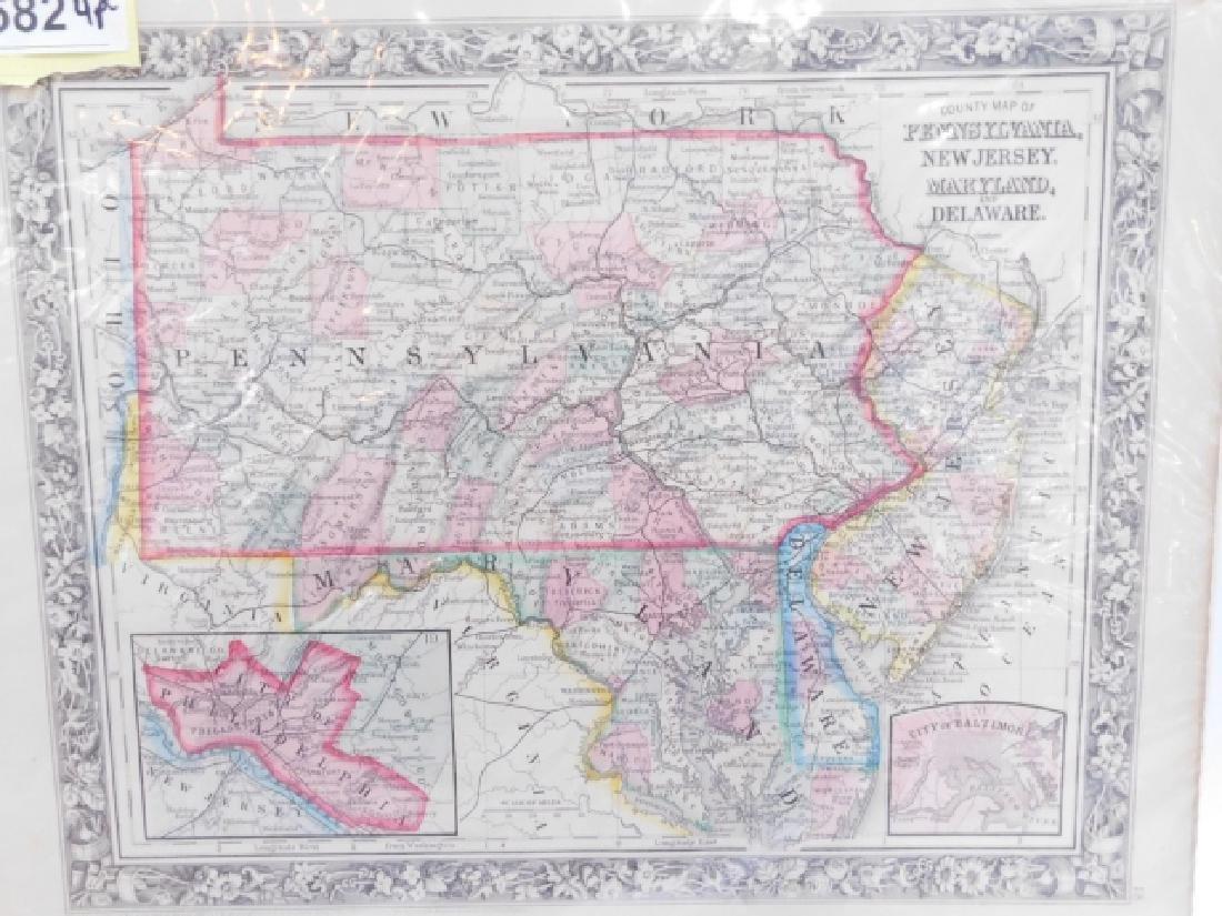 FOUR ANTIQUE MAPS - 2