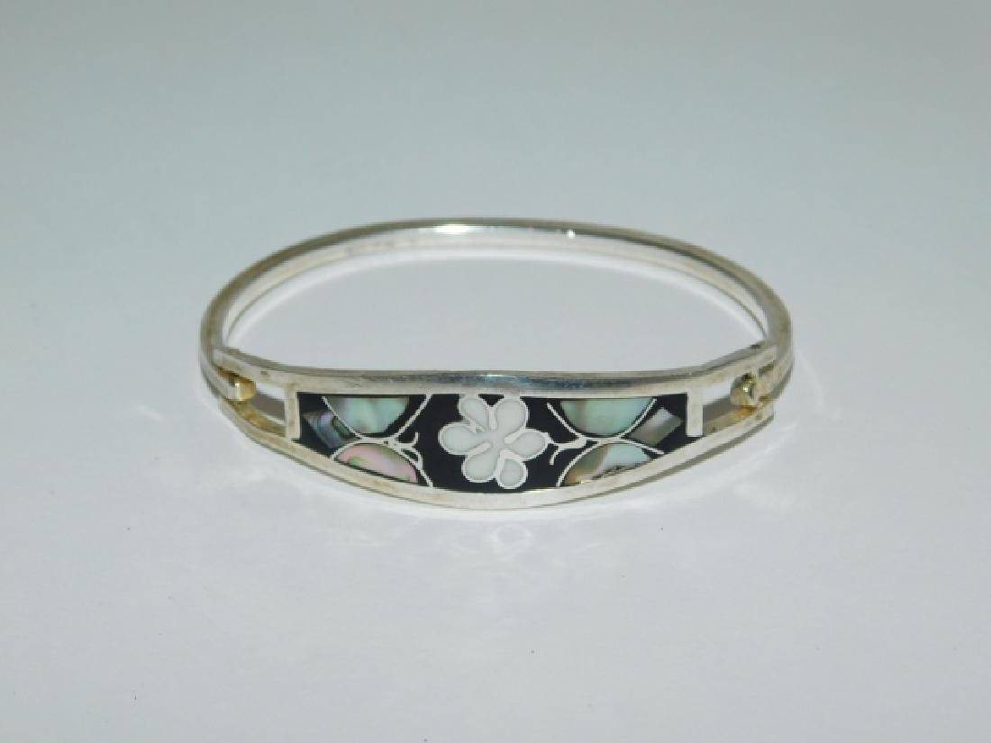 STERLING SILVER BRACELET INLAID WORK