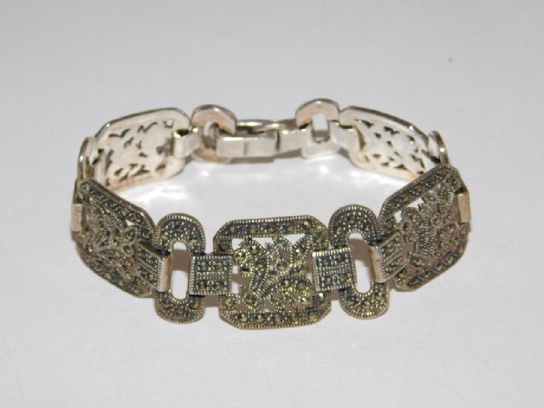 STERLING SILVER BRACELET WITH MARCASITE