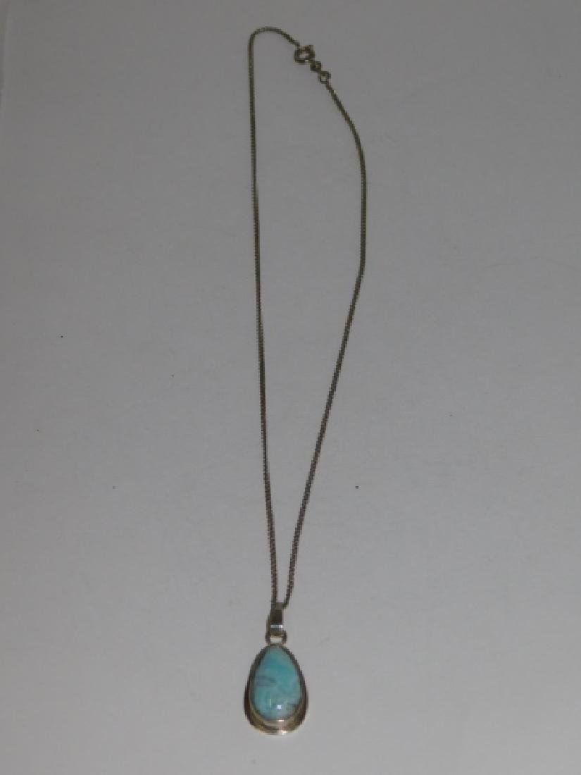 STERLING SILVER NECKLACE WITH PENDANT - 2