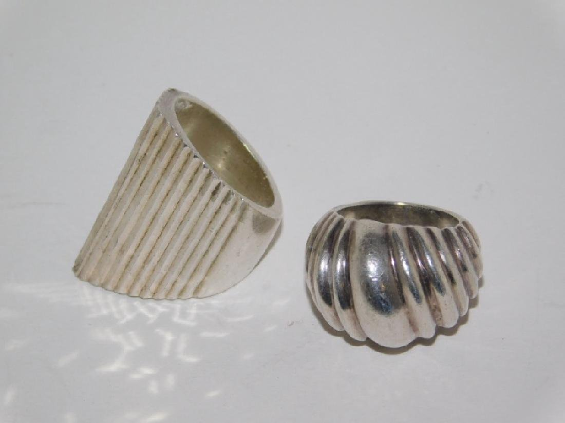 TWO STERLING SILVER RINGS - 2