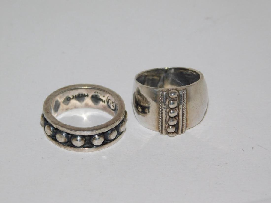 TWO STERLING SILVER RINGS