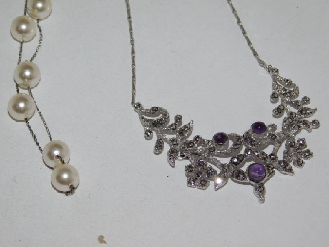 TWO STERLING SILVER NECKLACES